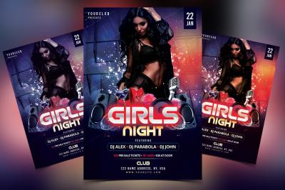 Girls Night - DJ PSD Flyer Template