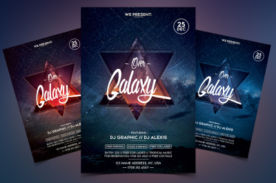 Over Galaxy - Event PSD Flyer Template