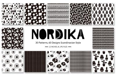 Nordika Patterns, scandinavian style