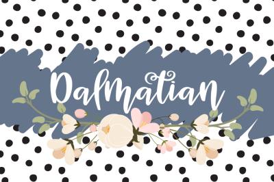 Dalmatian - A modern hand lettered bouncy script font