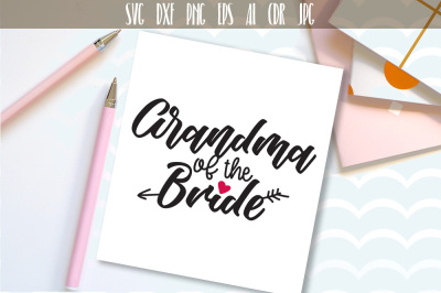 Design for Bridal Party. Wedding party. Family Cut File. Handwritten G