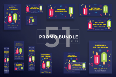 Design templates bundle | flyer, banner, branding | Ice Cream Day