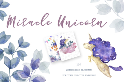 Miracle Unicorn Watercolor Set