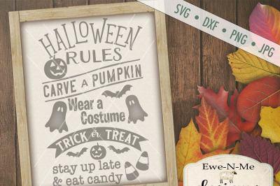 Halloween Rules SVG