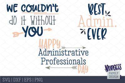 BUNDLE Administrative Professional Day | Cut files