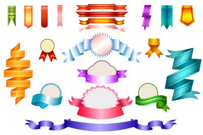 21 gradient ribbons