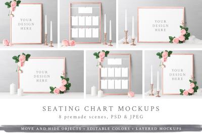Wedding Seating Chart Mockups