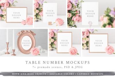 Table Number / Frame Mockups