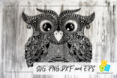 Owl Doodle SVG file