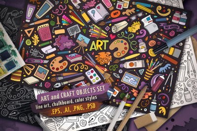 Art & Craft Objects Set