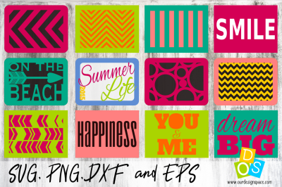 SVG, DXF,PNG and EPS of 4x3 Cards for scrapbooking