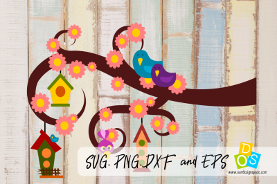 SVG, PNG, DXF and EPS Bird Houses