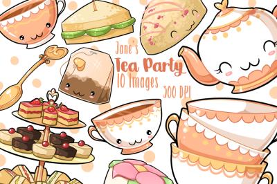 Kawaii Tea Party Clipart