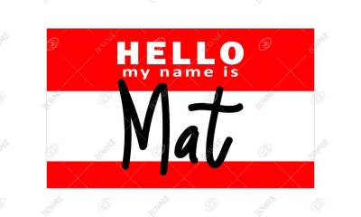 Hello my name is Mat Coir Door Mat - STENCIL DESIGN