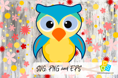 SVG, PNG, DXF and EPS Owl
