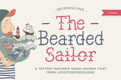 The Bearded Sailor - Tattoo Font