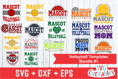 Volleyball Template Bundle #1 | SVG Cut Files