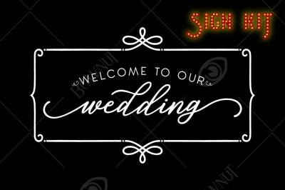 SIGN KIT - Simple Welcome to our Wedding sign - Stencil Designs