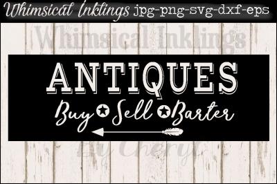 Antiques Sign SVG