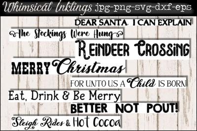 Christmas Cheer SVG Sign Bundle