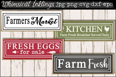 Farm Fresh Breakfast SVG set
