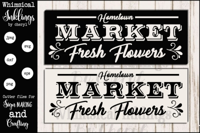 HomeTown Market Fresh Flowers SVG