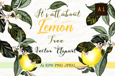 It's all about lemon. Vector clipart