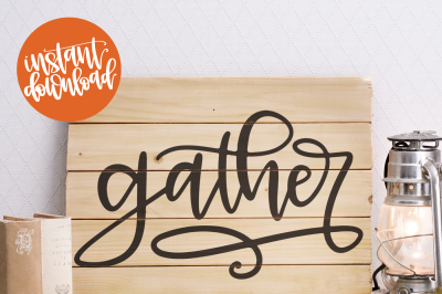 Gather SVG Cut File