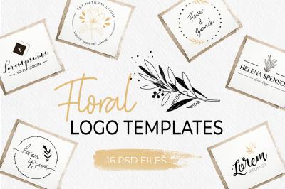 Elegant Floral Logo Templates