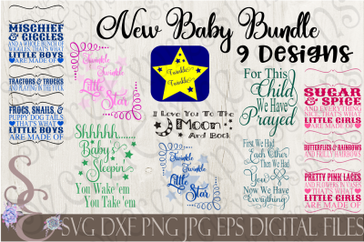 New Baby SVG Bundle