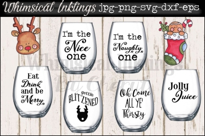 Jolly Juice Christmas Wine and Cocktail SVG Files