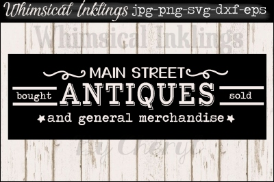 Main Street Antiques SVG