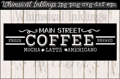 Main Street Coffee SVG
