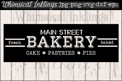 Main Street Bakery Sign SVG