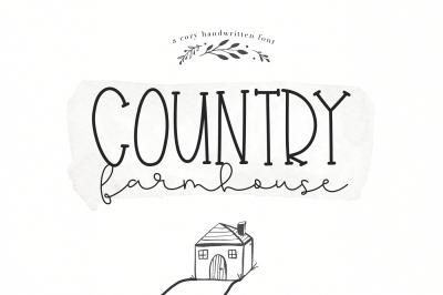 Country Farmhouse - A Script & Serif Duo Font