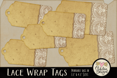 Lace Wrap Printable tags