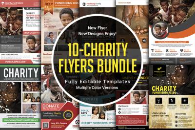 Charity Donation Flyers Bundle