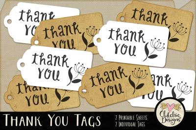 Printable Thank You Gift Tags
