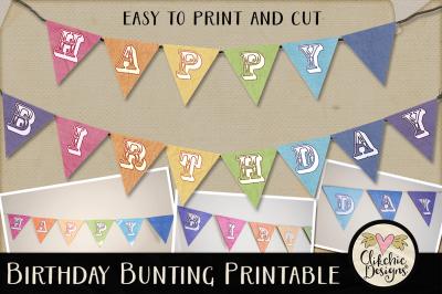Happy Birthday Bunting Printable