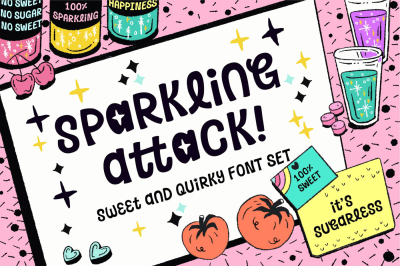 Sparkling Attack - Playful Font!