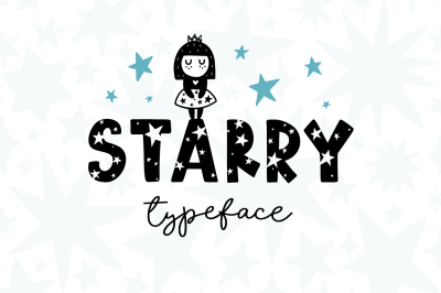Starry Typeface - Font with Clipart!