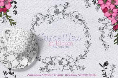 CAMELLIA BLOOM DESIGN SET
