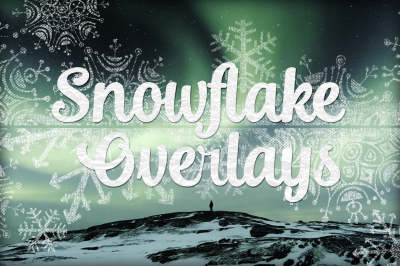 Snowflake Texture Overlays