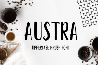 Austra Uppercase Brush Font