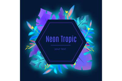 Neon tropic banner