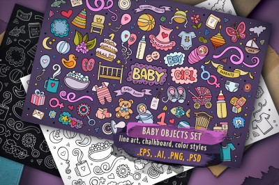 Baby Objects & Symbols Set