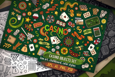 Casino Objects & Symbols Set