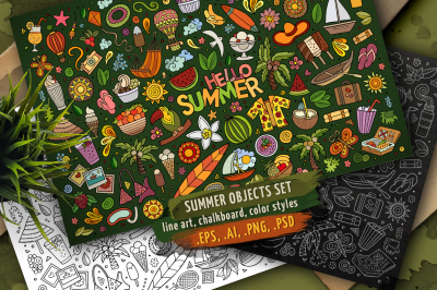 Summer Objects & Symbols Set