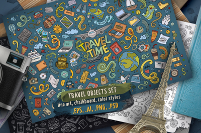 Travel Objects & Symbols Set