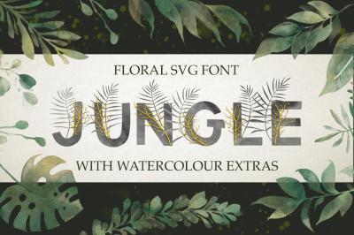 Jungle. SVG font + extras